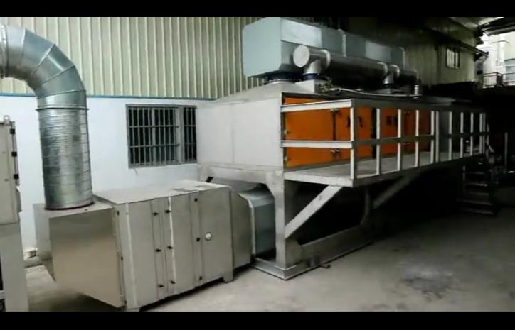 鸿飞RCO催化燃烧处理设备实拍